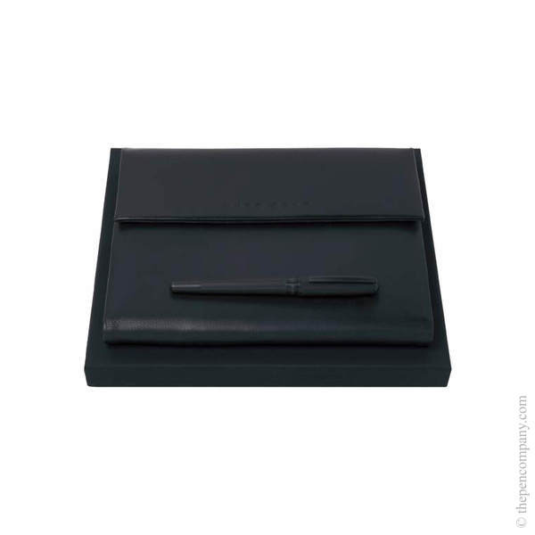 A5 Hugo Boss Essential Rollerball and Folder Set
