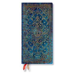 Slim Paperblanks Equinoxe 2019 Diary Azure Horizontal Week-to-View - 1