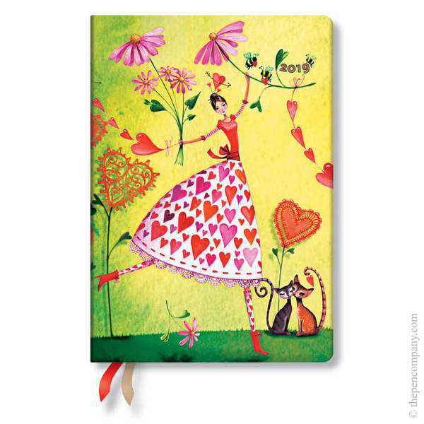 Midi Paperblanks Mila Marquis 2019 Diary Valentina Horizontal Week-to-View