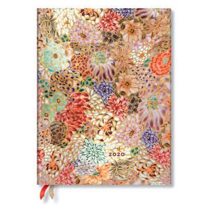 Ultra Paperblanks Michiko 2020 Diary Kikka Horizontal Week-to-View - 1