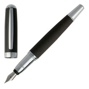 Dark Grey Hugo Boss Advance Fabric Fountain Pen - 2