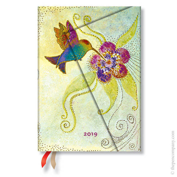 Midi Paperblanks Whimsical Creations 2019 Diary Hummingbird Day-to-View