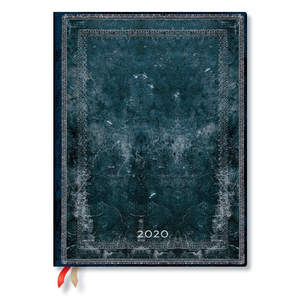 Ultra Paperblanks Old Leather Classics 2020 Diary Midnight Steel Day-to-View - 1