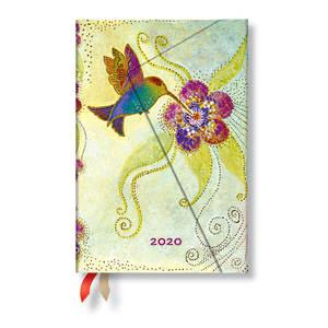 Mini Paperblanks Whimsical Creations 2020 Diary Hummingbird Verso Week-to-View - 1