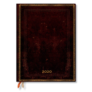 Ultra Paperblanks Old Leather 2020 Diary Black Moroccan Horizontal Week-to-View - 1