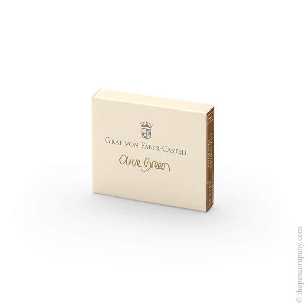 Olive Green Graf von Faber-Castell Fountain Pen Ink Cartridges