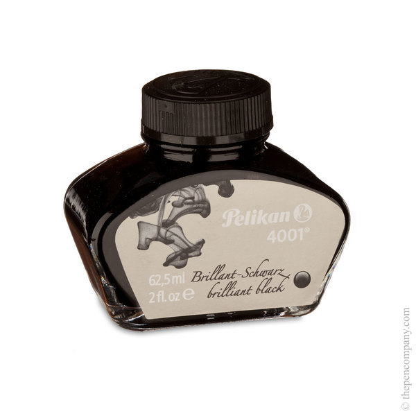 Brilliant Black Pelikan Bottled 4001 Fountain Pen Ink