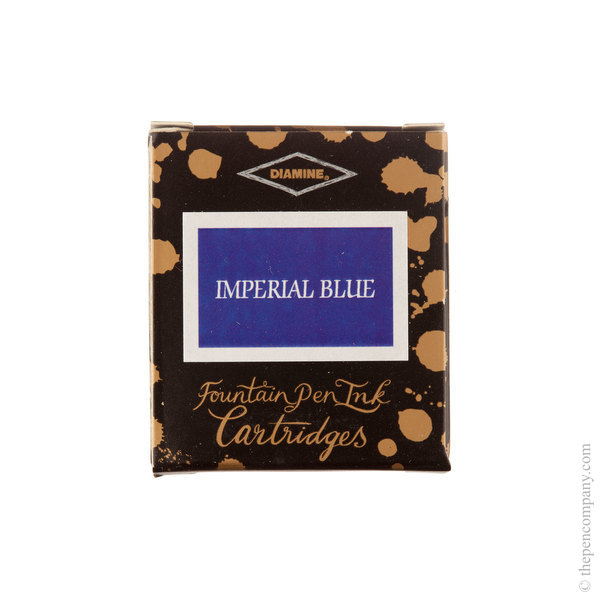 WES Imperial Blue Diamine Fountain Pen Ink Cartridges Pack of 6