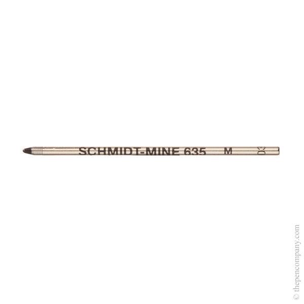 Black Schmidt S635 Mini Ballpoint Refill Medium