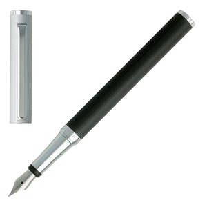 Black/Chrome Hugo Boss Reverse Fountain Pen - 1
