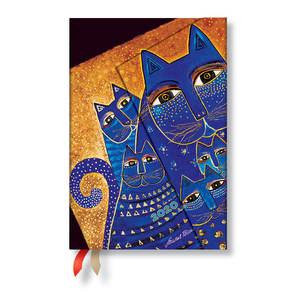 Mini Paperblanks Fantastic Felines 2020 Diary Mediterranean Cats Horizontal Week-to-View - 1