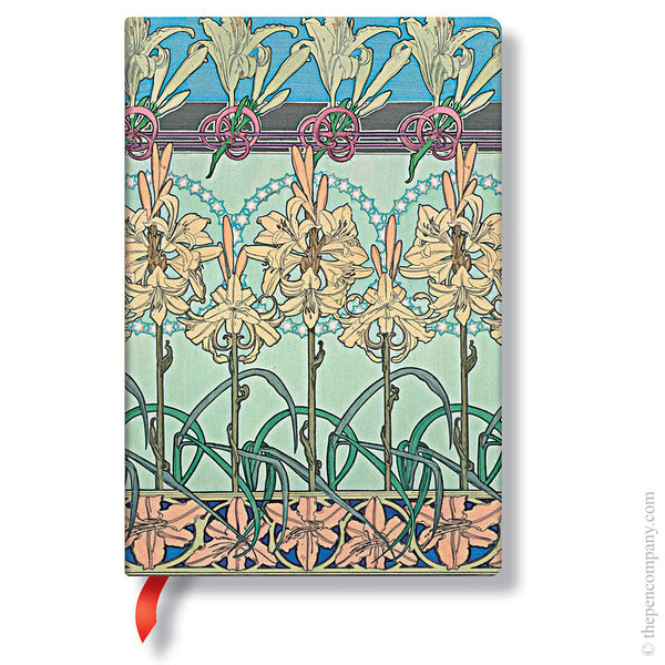 Midi Paperblanks Mucha Journal Tiger Lily Lined