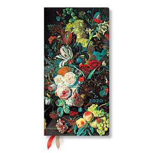 Slim Paperblanks Still Life Burst 2020 Diary Flowers and Fruit Horizontal Week-to-View - 1