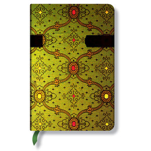 Lined Mini Paperblanks French Ornate Vert Journal - 1