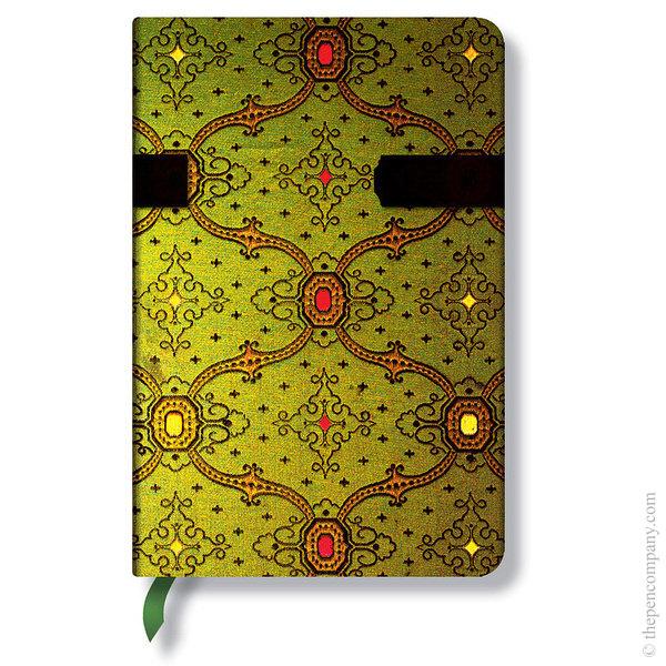 Mini Paperblanks French Ornate Journal Vert Lined