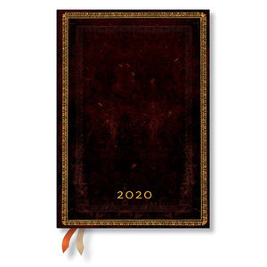 Midi Paperblanks Old Leather 2020 Diary Black Moroccan Vertical Week-to-View - 1
