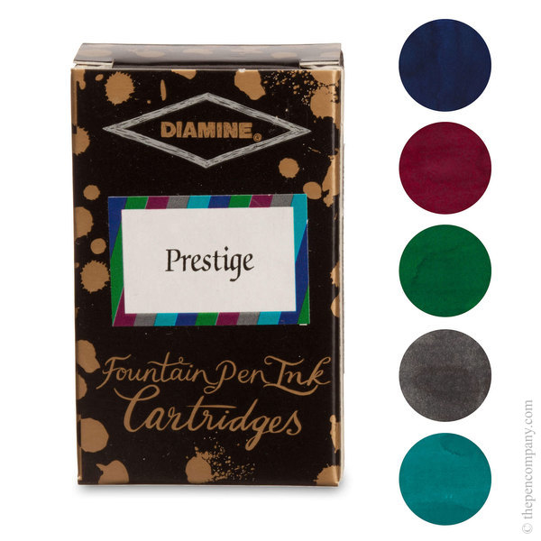 Prestige Selection Diamine Fountain Pen Ink Cartridges Selection Pack