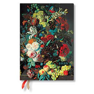 Midi Paperblanks Still Life Burst Flexi 2020 Diary Flowers and Fruit Horizontal Week-to-View - 1
