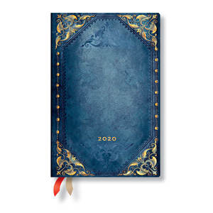 Mini Paperblanks The New Romantics Flexi 2020 Diary Peacock Punk Horizontal Week-to-View - 1
