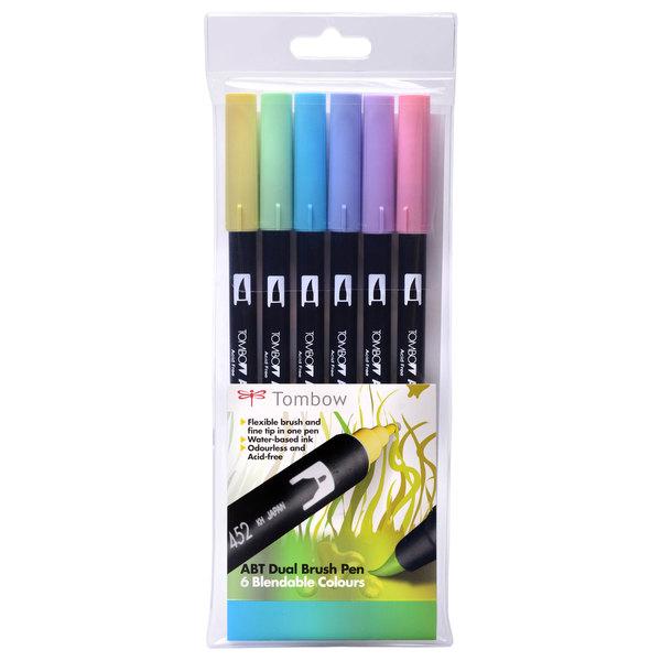 Pastel Tombow ABT Brush Pen Pack of 6
