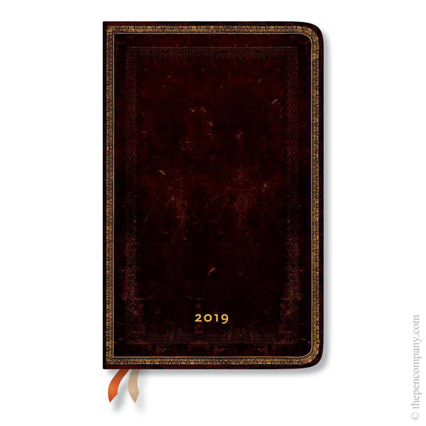 Maxi Paperblanks Old Leather 2019 Diary