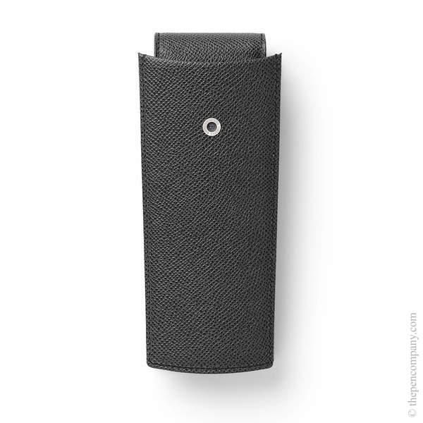 Black Graf von Faber-Castell Two-Part Pen Case for Three