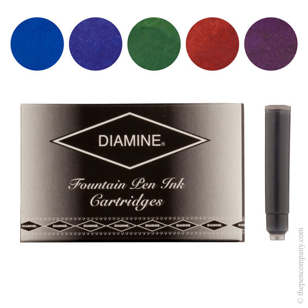 Regal Selection Diamine Fountain Pen Ink Cartridges Selection Pack