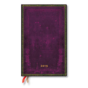 Maxi Paperblanks Old Leather Classics 2019 Diary Cordovan Horizontal Week-to-View - 1