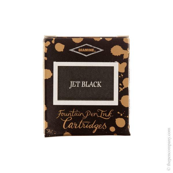 Jet Black Diamine Fountain Pen Ink Cartridges Pack of 6