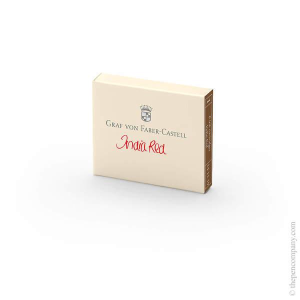 India Red Graf von Faber-Castell Fountain Pen Ink Cartridges