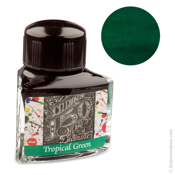 Tropical Green Diamine Bottled 150th Anniversary Ink
