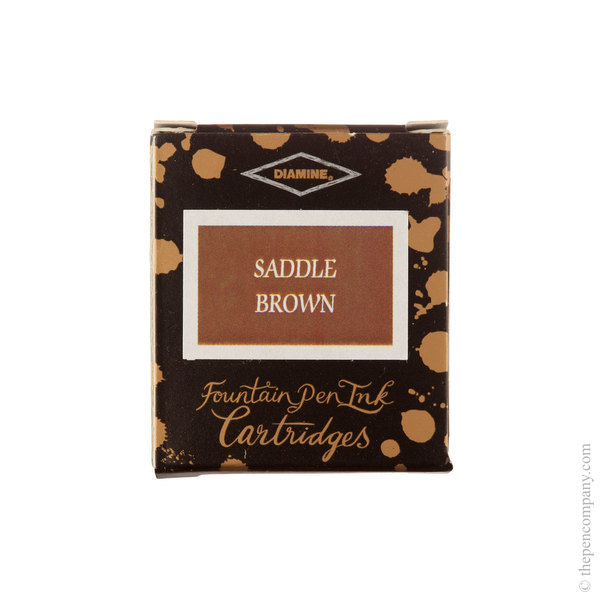 Saddle Brown Diamine Fountain Pen Ink Cartridges Pack of 6