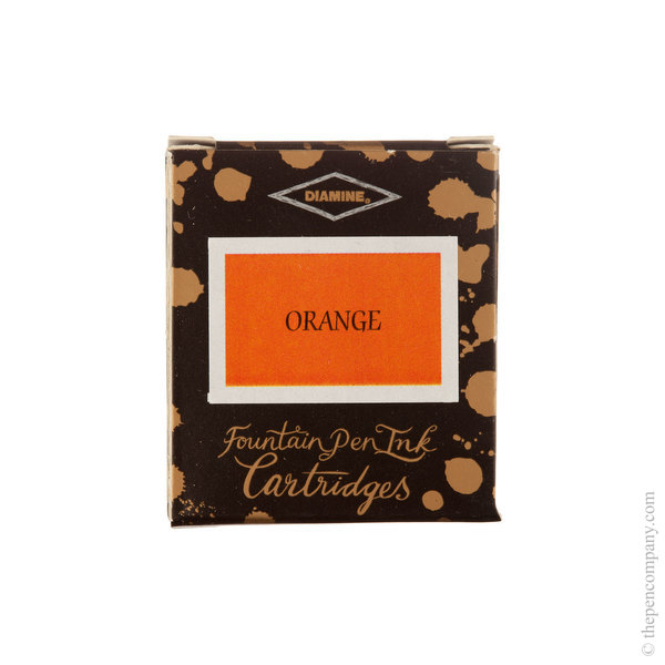 Orange Diamine Fountain Pen Ink Cartridges Pack of 6