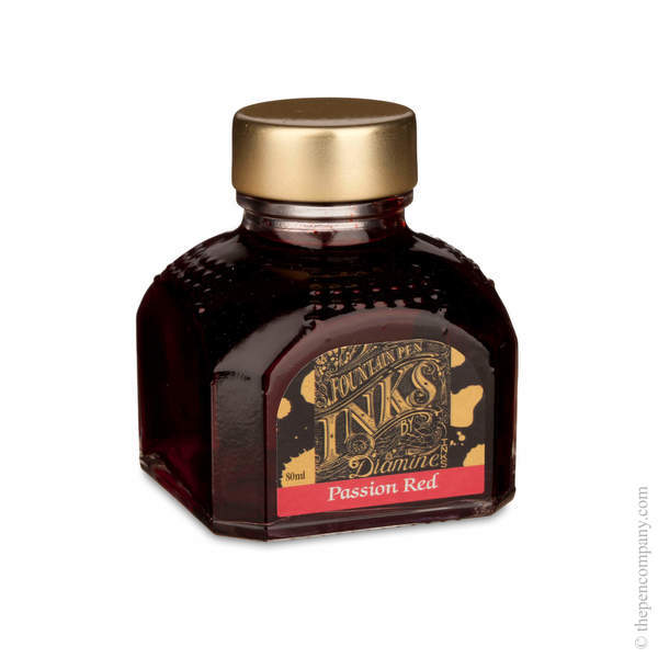 Passion Red Diamine Bottled Fountain Pen Ink 80ml
