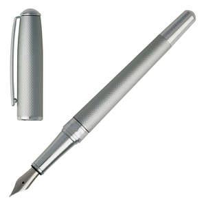 Matt Chrome Hugo Boss Essential Matte Fountain Pen - 2