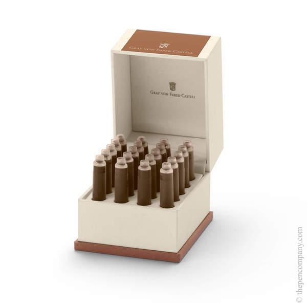 Cognac Brown Graf von Faber-Castell 20 Fountain Pen Ink Cartridges