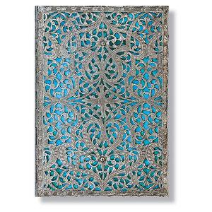 Midi Paperblanks Silver Filigree Maya Blue Address Book - 1