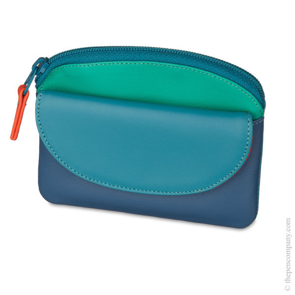 Aqua Mywalit Coin Purse with Flap
