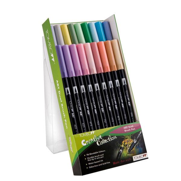Pastel Tombow ABT Brush Pen Pack of 18