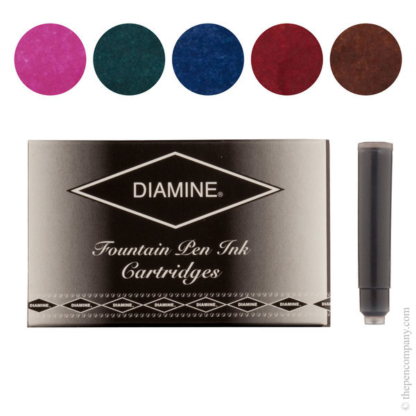 Elegance Selection Diamine Fountain Pen Ink Cartridges Selection Pack