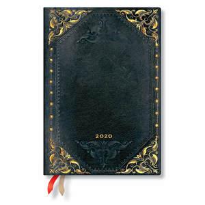 Midi Paperblanks The New Romantics Flexi 2020 Diary Midnight Rebel Horizontal Week-to-View - 1