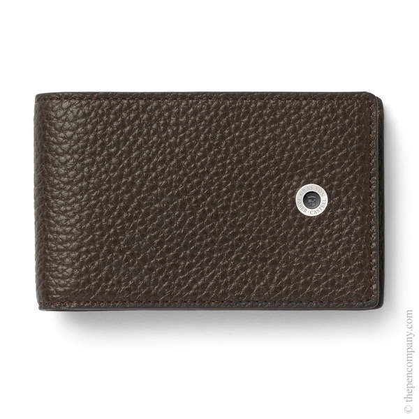 Dark Brown Graf von Faber-Castell Cashmere Wallet with Coin Purse Small