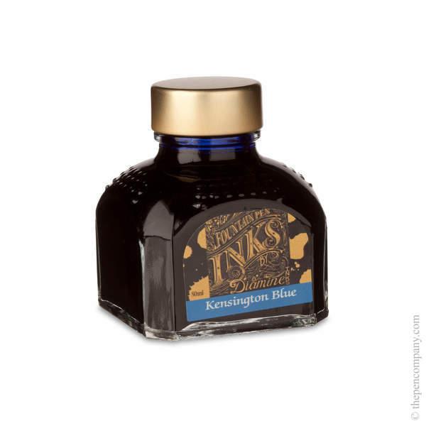 Kensington Blue Diamine Bottled Fountain Pen Ink 80ml