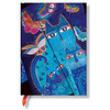 Unlined Midi Paperblanks Blue Cats and Butterflies Journal - 1