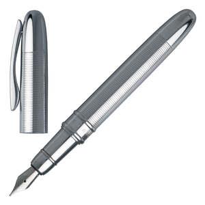 Chrome Hugo Boss Stripe Fountain Pen - 1