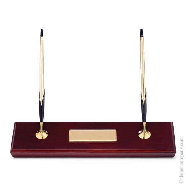 10CT Gold Cross Double Desk Set