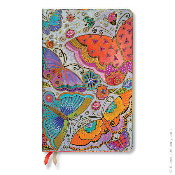 Maxi Paperblanks Flutterbyes 2019 Diary Horizontal Week-to-View