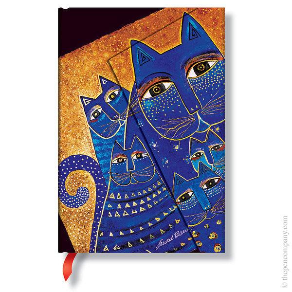 Mini Paperblanks Laurel Burch - Fantastic Felines Journal Mediterranean Cats Lined