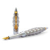 Jack Row Jaali fountain pen Sterling Silver with Petrol Blue Diamonds - 3