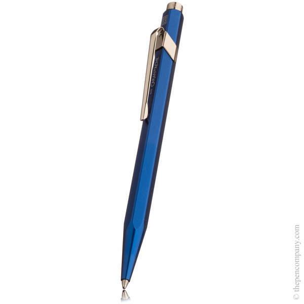 Blue Caran d Ache 849 Metal-X Ballpoint Pen